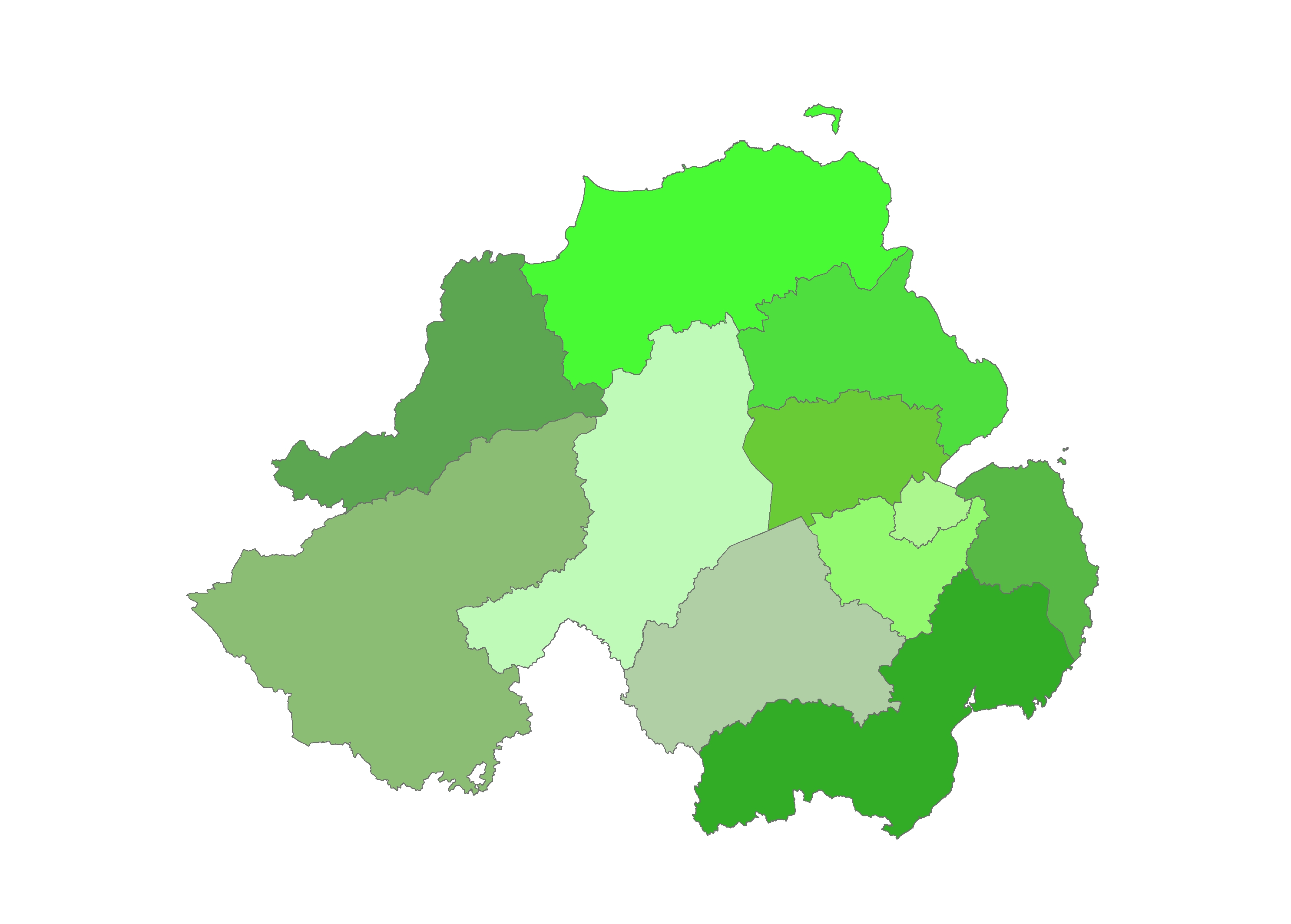Northern Ireland Admin areas
