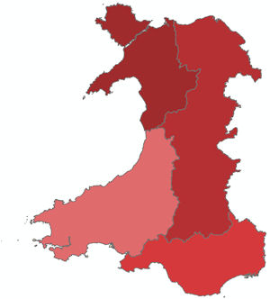 Welsh Admin areas